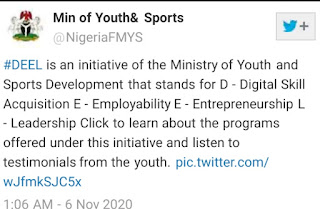ministry of youths and sports launches Deel