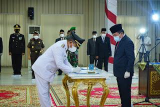 Gubernur Jambi Lantik Mantan Guru-Nya Jadi Bupati Merangin.