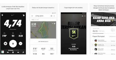 Aplikasi jogging  Nike+ Run Club