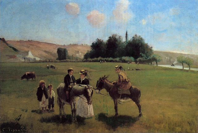 Camille Pissarro - Paseo en burro por La Roche Guyon - 1864-65