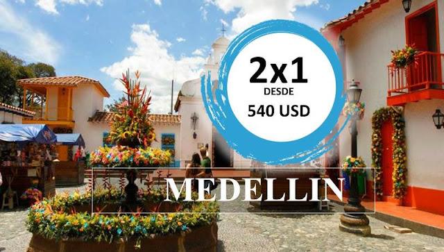 IMAGEN Oferta 2x 1 parejas de vuelos a Medellín