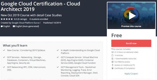 [100% Free] Google Cloud Certification - Cloud Architect 2019