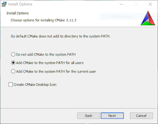 Add CMake to PATH when installing