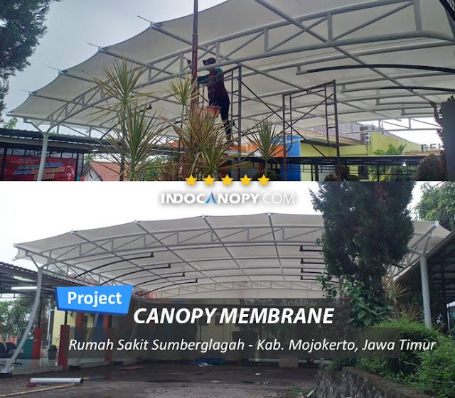 canopy membrane rumah sakit jawa tengah mojokerto