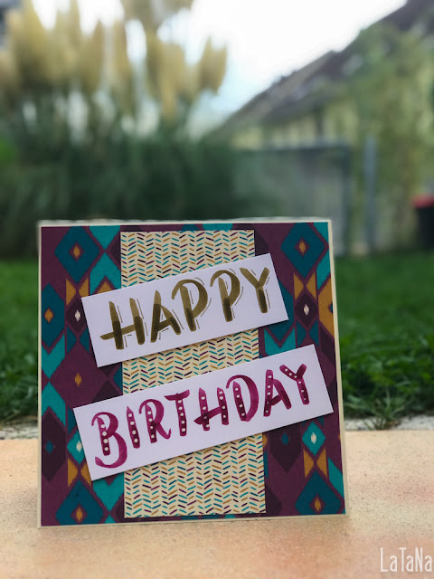 Hand Lettering, Happy Birthday, CAS Card, Tombow Brush Pen