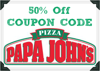 Papa johns pizza coupon code