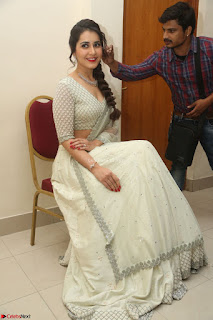Raashi Khanan looks stunning in Crop Top Deep neck Choli Ghagra Transparent Chunni WOW ~  Exclusive Celebrities Galleries 028.JPG
