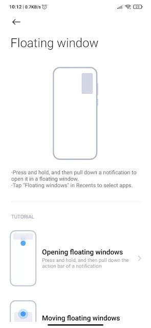 Floating Window Xiaomi