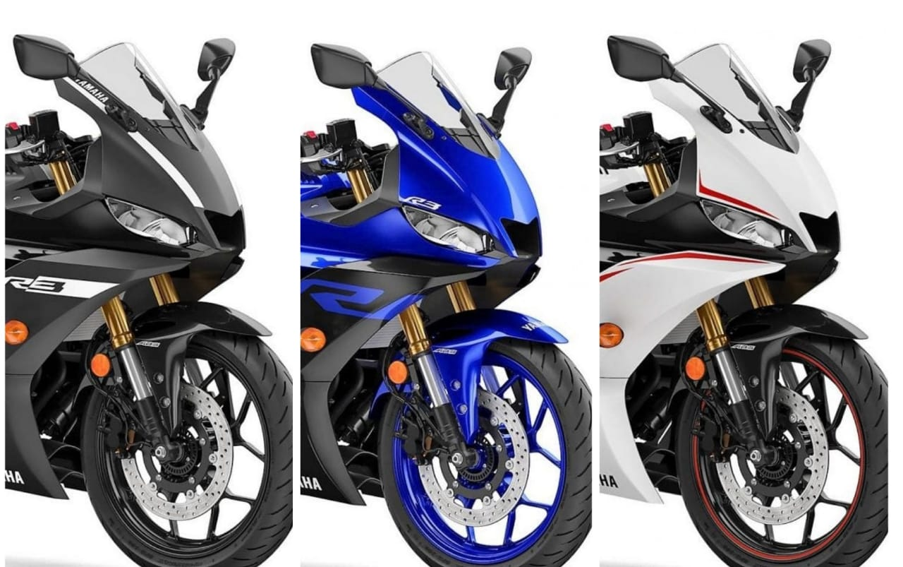 all details about :new 2019 yamaha yzf-r3 with three shades - bikers