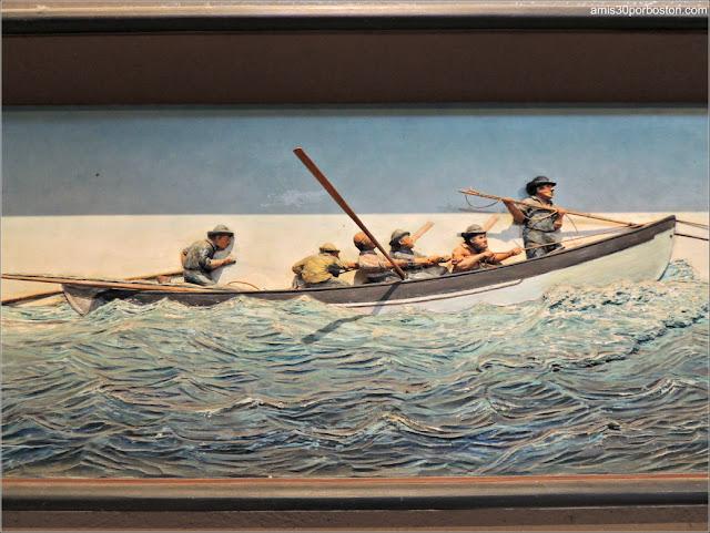 Representación Barco Ballenero en el Museo de las Ballenas de New Bedford