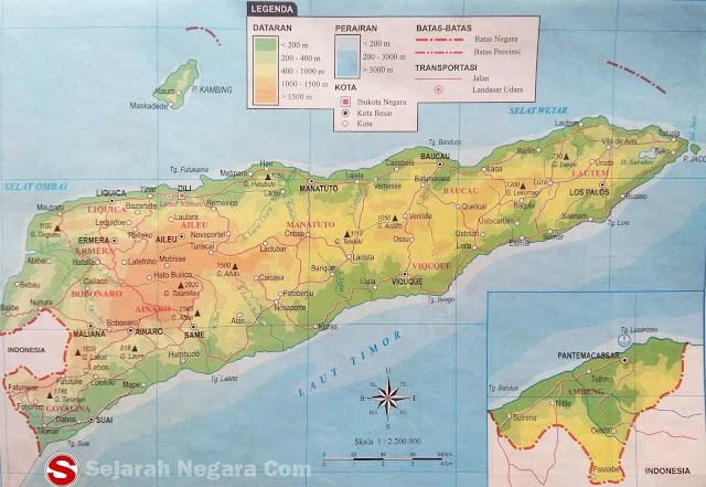 Timor Leste di bawah ini mencakup peta dataran Peta Atlas Timor Leste