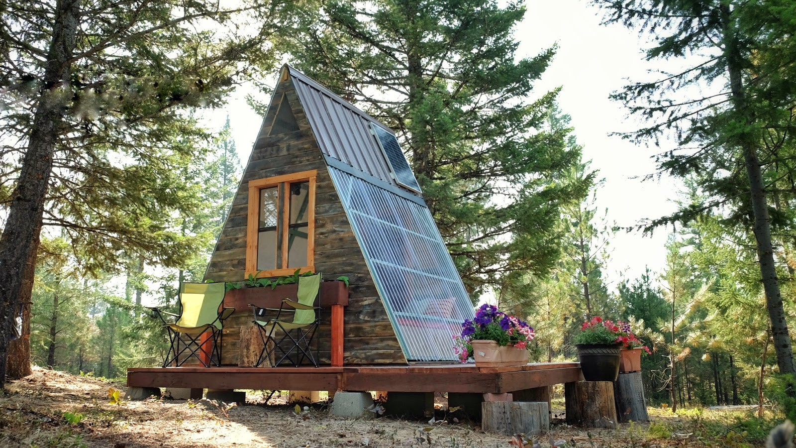 Tiny house town a frame cabin that cost just 700 to build for Free small cabin plans with material list