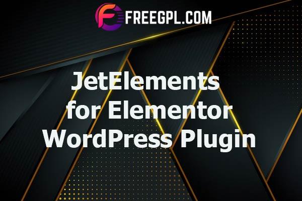 JetElements - Widgets Addon for Elementor Page Builder Nulled Download Free