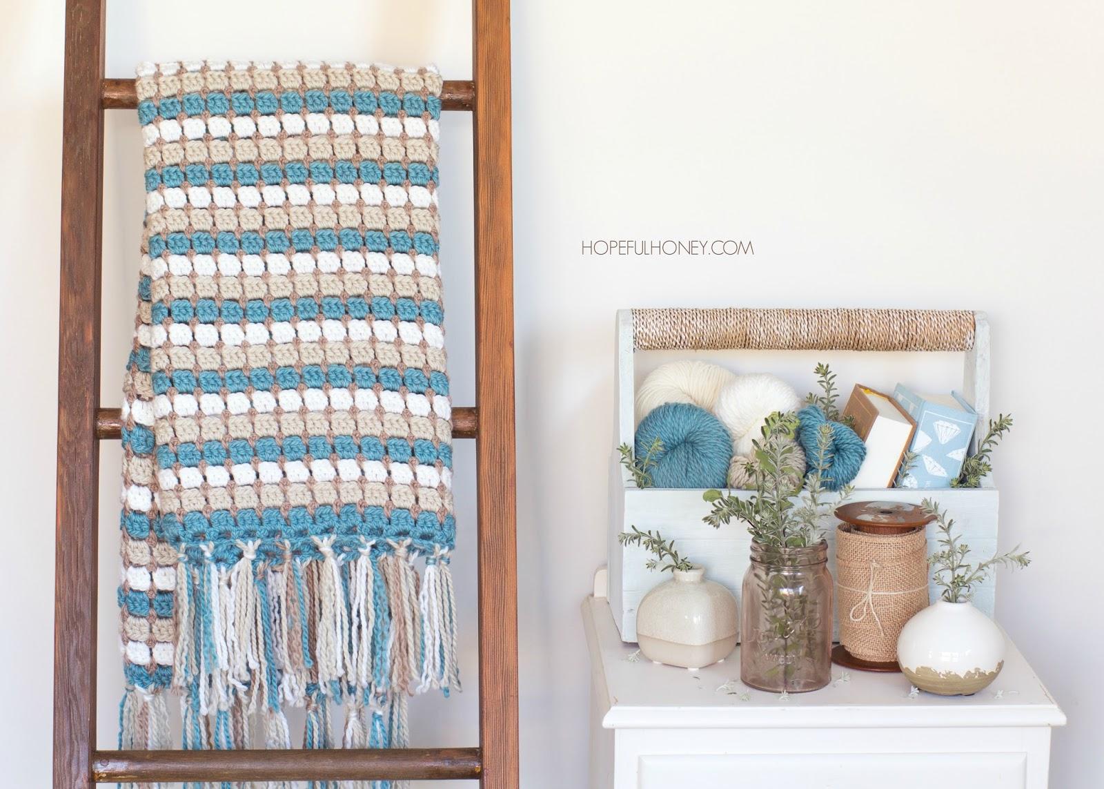Pebble Shore Blanket – Crochet Pattern