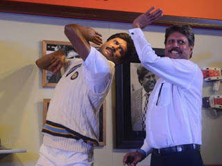 Kapil Dev unveils his wax figure at the Madame Tussauds museum in New Delhi.