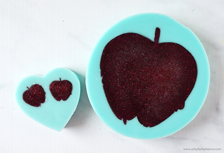 Poison Apple Mold Filled with Red Resin