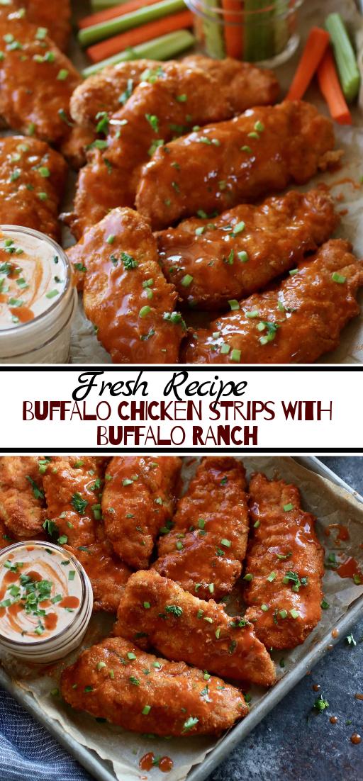 Buffalo Chicken Strips with Buffalo Ranch #dinnerrecipe #food #amazingrecipe #easyrecipe