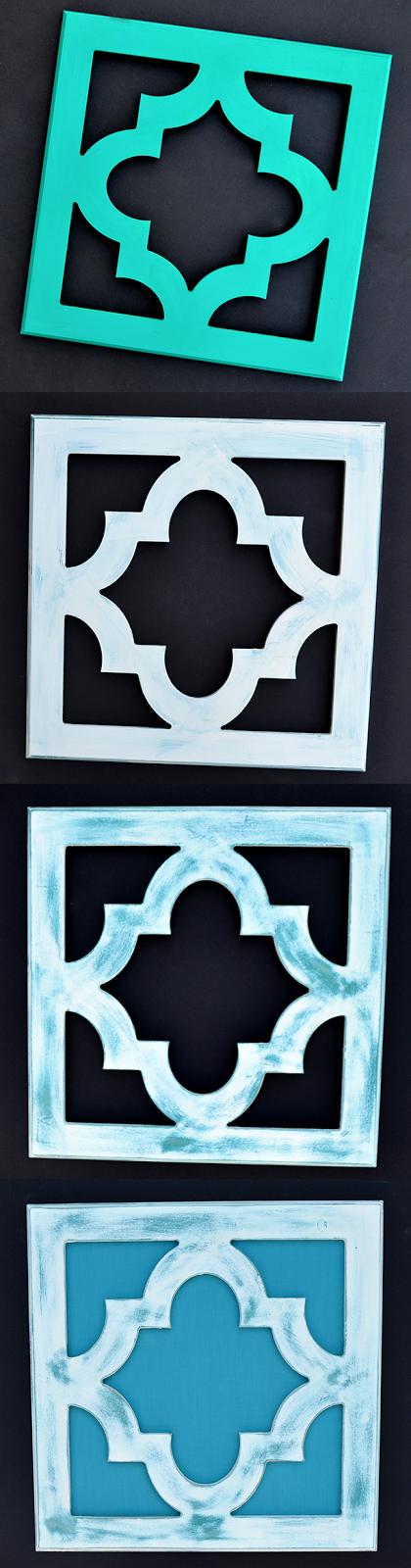 Chalk Paint Fabric Backed Frames #cutitoutalready