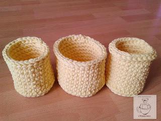 Bananowe koszyki ze sznurka bawełnianego - Ofuniowo