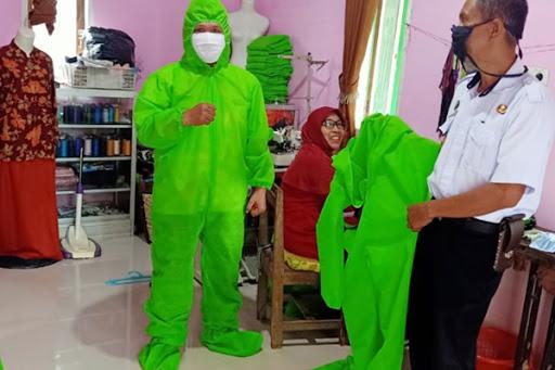 Penjahit di Soreang Lau Maros Jahit Pakaian APD