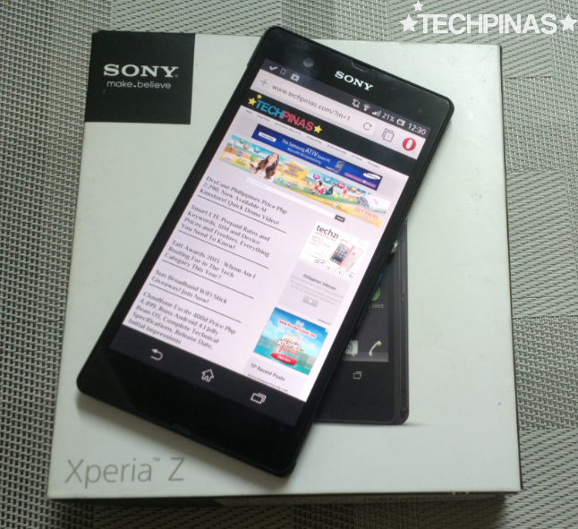 Sony Xperia Z Philippines Unboxing, Accessories Check : Water