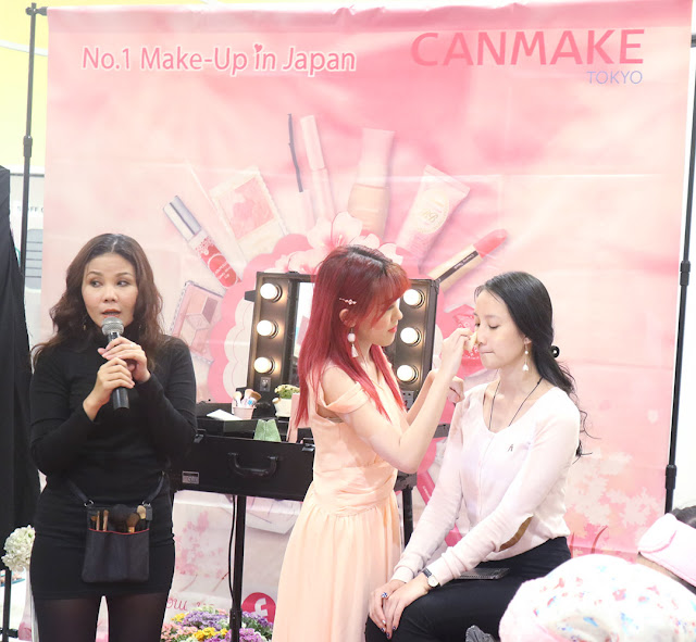 Event CANMAKE Igari Makeup Look di AEON Mall