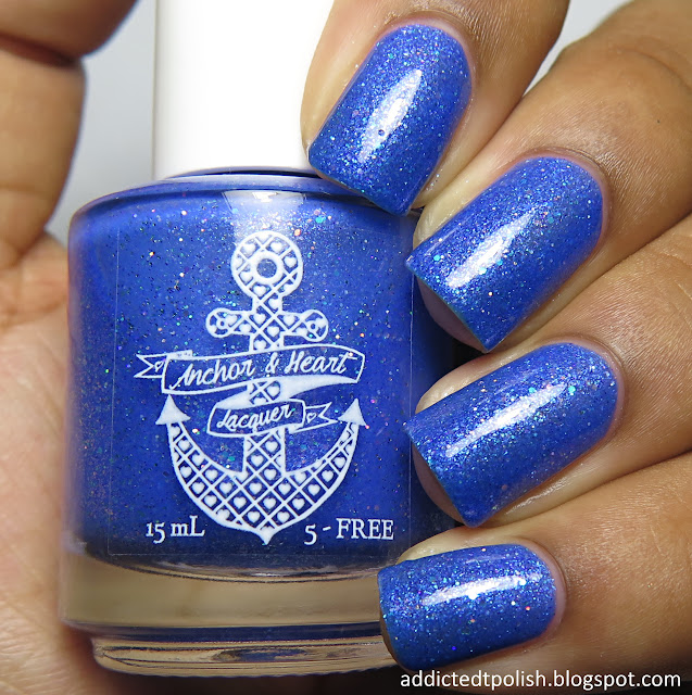 anchor and heart lacquer shattered sea glass