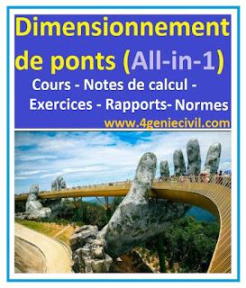 pré dimensionnement tablier pont , calcul pont à poutre excel, cours conception ponts pdf , cours ouvrage d'art pont pdf