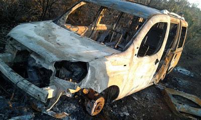 Veículo tomado de assalto em Irecê é encontrado queimado em Morro do Chapéu