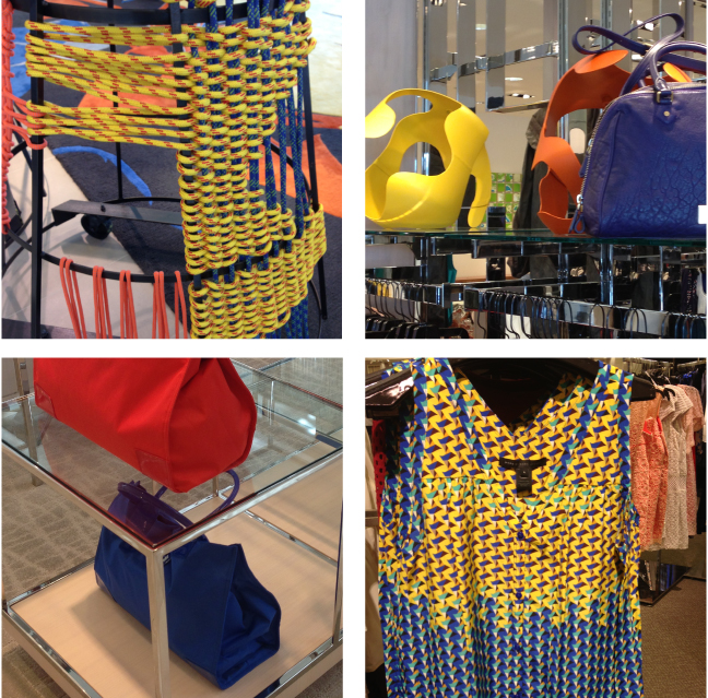 Cobalt, Orange and Yellow seen at Neiman Marcus via Cozy•Stylish•Chic