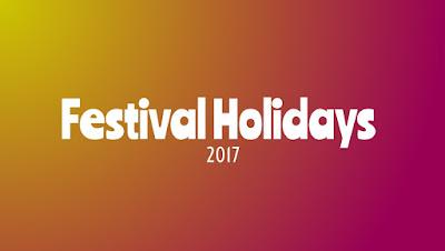 Festival Holidays 2017