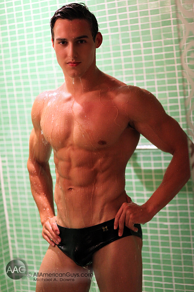 Justin Deroy, male model. Photo taken by Michael Anthony