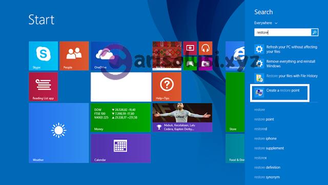 cara system restore windows 10 ke tanggal sebelumnya