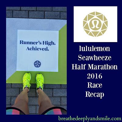 lululemon Seawheeze Half Marathon 2016 Race Recap