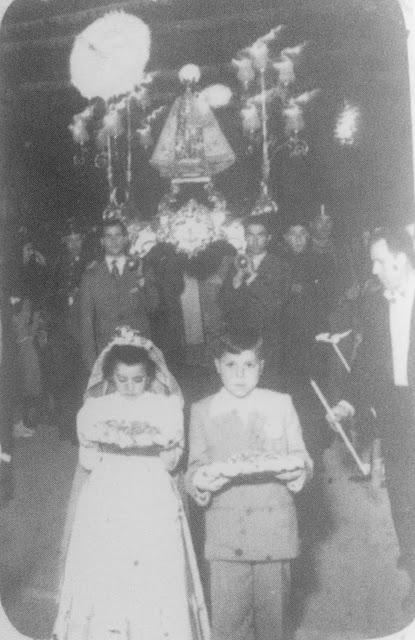 Processó Mare de Déu Desemparats al voltant de 1947-1948.
