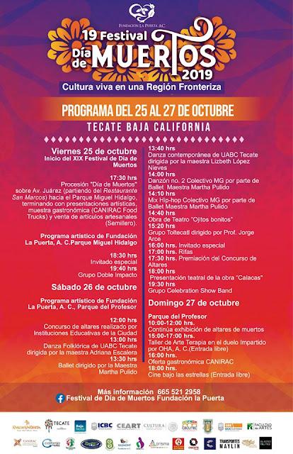 programa festival día de muertos tecate 2019
