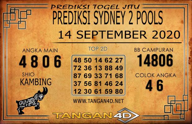 PREDIKSI TOGEL SYDNEY 2 TANGAN4D 14 SEPTEMBER 2020