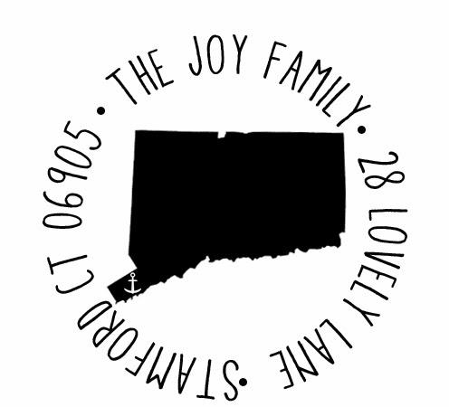 Pure Joy Home: New! Custom State Return Address Stamps