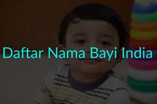 Nama Bayi Laki-laki India