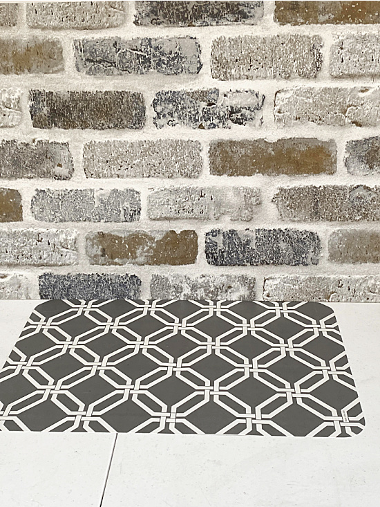 brick pattern and decorative placemat
