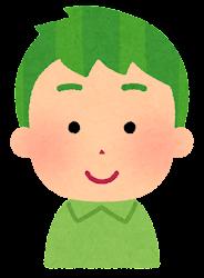 緑の髪の男の子のイラスト