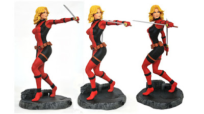 New York Comic Con 2020 Exclusive Marvel Comic Gallery Lady Deadpool Unmasked Edition PVC Diorama by Diamond Select Toys