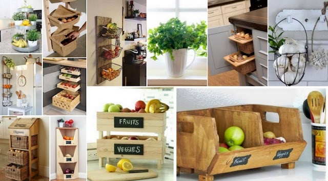 Πρακτικοί τρόποι για να αποθηκεύετε εκτός ψυγείου Φρούτα & Λαχανικά