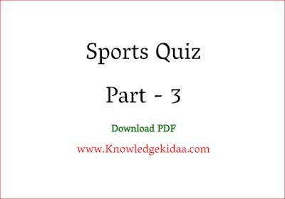 Sports Quiz Part -3