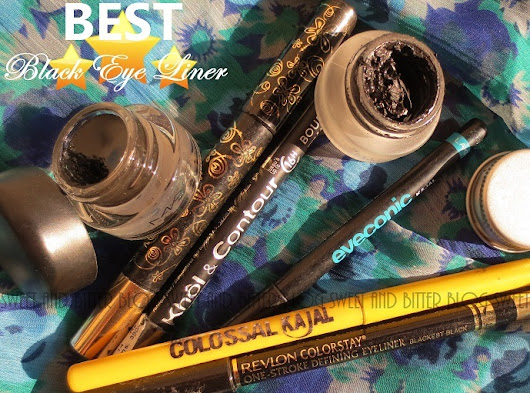 7 Black Eyeliner and Kohls from India Compared - Smug, Water, Smoothness Tests