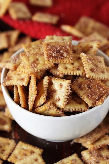 Bowl of Super Easy Cinnamon Sugar Crackers Image