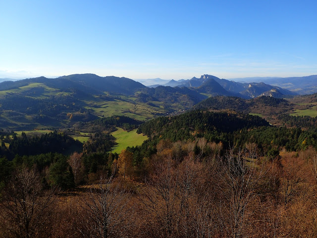 Podszczytowy, słowacki punkt widokowy w Pieninach
