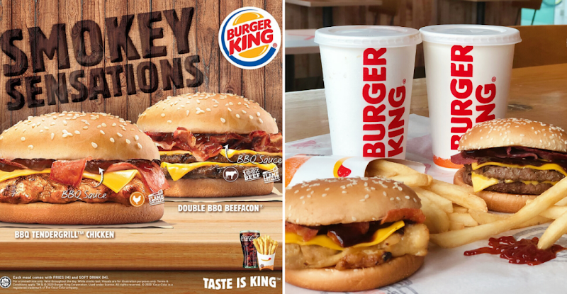 Flame Grilled Patties with BBQ Sauce is the New Smokey Thing by Burger King! Try Today.