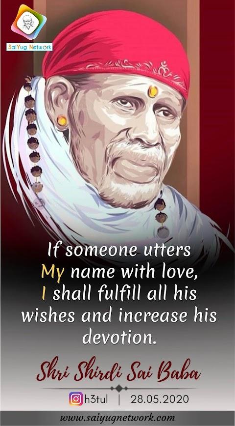 My Name - Sai Baba Idol Face Painting Image