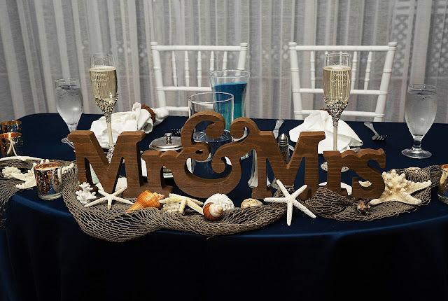 Sweetheart table detail shot